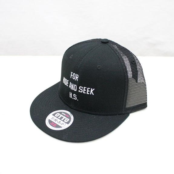 HIDE&SEEK 20th FOR H.S. Mesh CAP (SOLID):BLACK