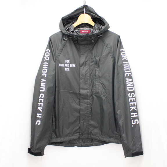 HIDE&SEEK Packable Rain JKT:BLACK