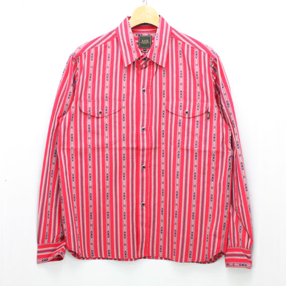 RATS INDIAN STRIPE SHIRT:RED