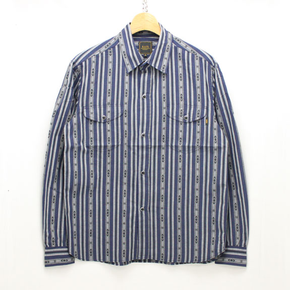 RATS INDIAN STRIPE SHIRT:NAVY