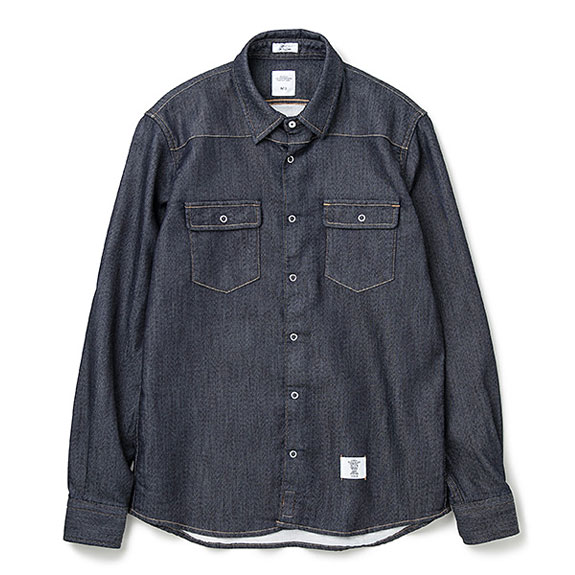 BEDWIN L/S SWEAT DENIM WESTERN SHIRT