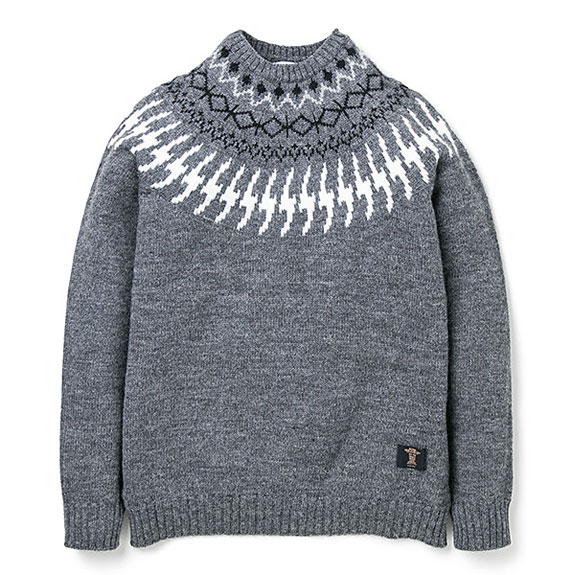 BEDWIN C-NECK NORDIC JACQUARD KNIT
