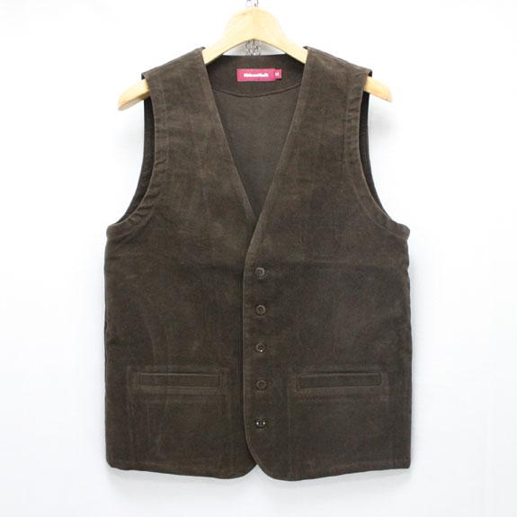 HIDE&SEEK Moleskin Vest (15aw) BROWN