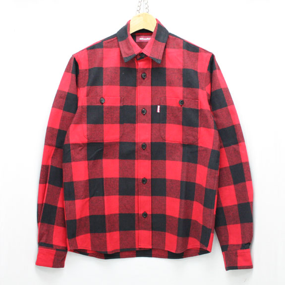 HIDE&SEEK Check L/S Shirt (15aw) RED
