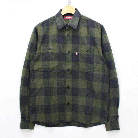 HIDE&SEEK Check L/S Shirt (15aw) O D