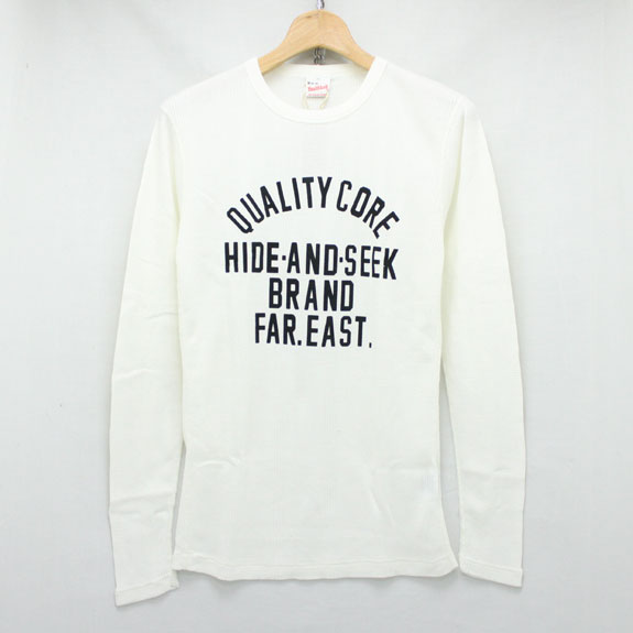 HIDE&SEEK Waffle L/S Shirt (Healthknit 15aw) OFF WHITE