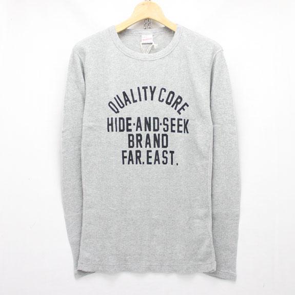 HIDE&SEEK Waffle L/S Shirt (Healthknit 15aw) H-GRAY