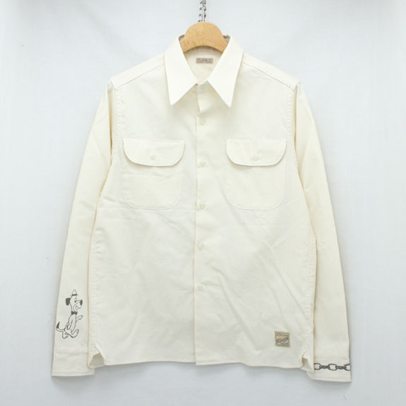 BELAFONTE RAGTIME CHAMBRAY SHIRT (CHAIN AND DOG PRINT):KINARI