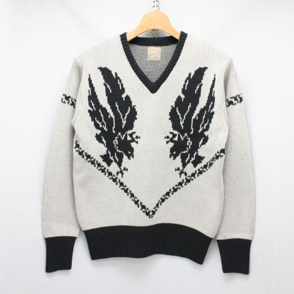 BELAFONTE RAGTIME EAGLE SWEATER:GRAY×BLACK