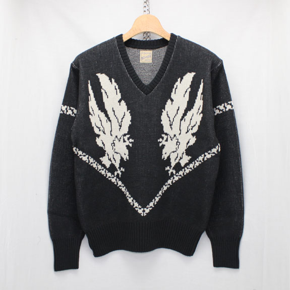 BELAFONTE RAGTIME EAGLE SWEATER:BLACK×GRAY
