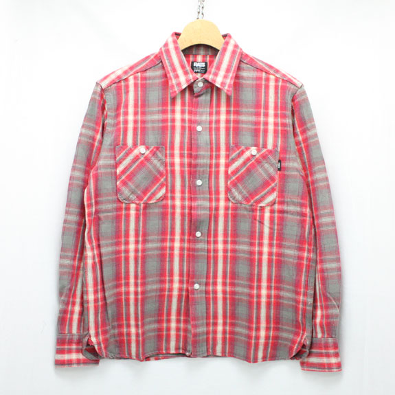 RATS COTTON CHECK FLANNEL SHIRT:RED CHECK