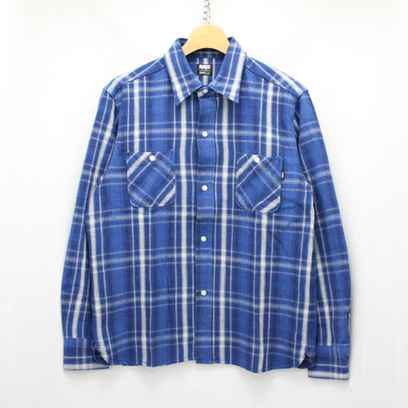 RATS COTTON CHECK FLANNEL SHIRT:NAVY CHECK