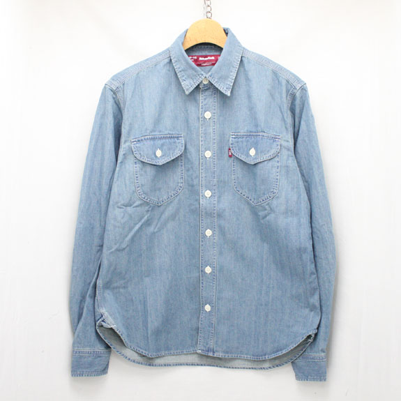 HIDE&SEEK Denim Work L/S Shirt:INDIGO