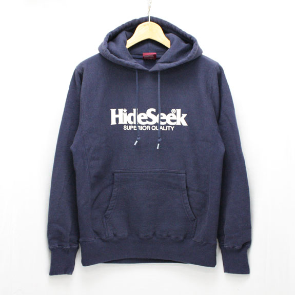 HIDE&SEEK Logo Parka (15aw):NAVY