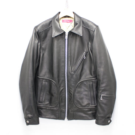 HIDE&SEEK Single Riders JKT (15aw):BLACK