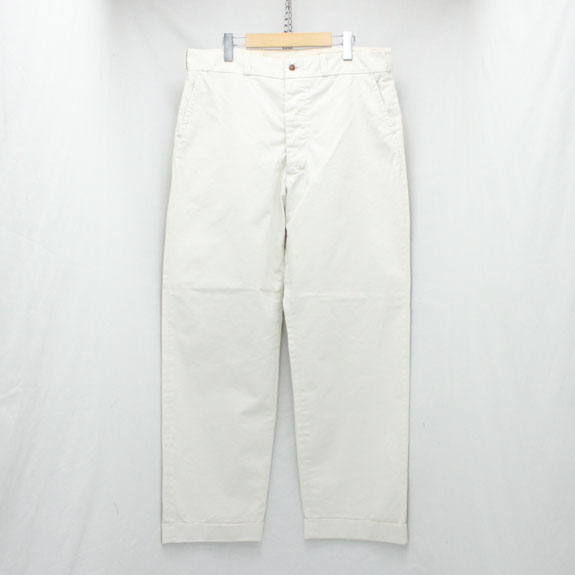 BELAFONTE RAGTIME CHINO CLOTH TROUSERS (AGED):WASHED OFF WHITE