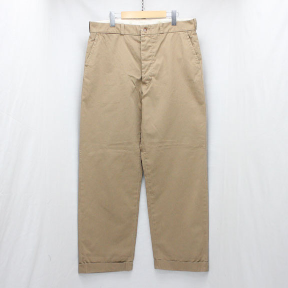 BELAFONTE RAGTIME CHINO CLOTH TROUSERS (AGED):WASHED KHAKI