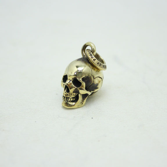 RATS×JOLLY ROGER×BURDEN OF PROOF SKULL CHARM:BRASS