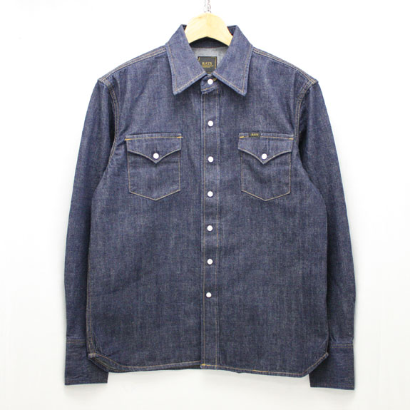 RATS ONE WASH DENIM WESTERN SHIRT:INDIGO