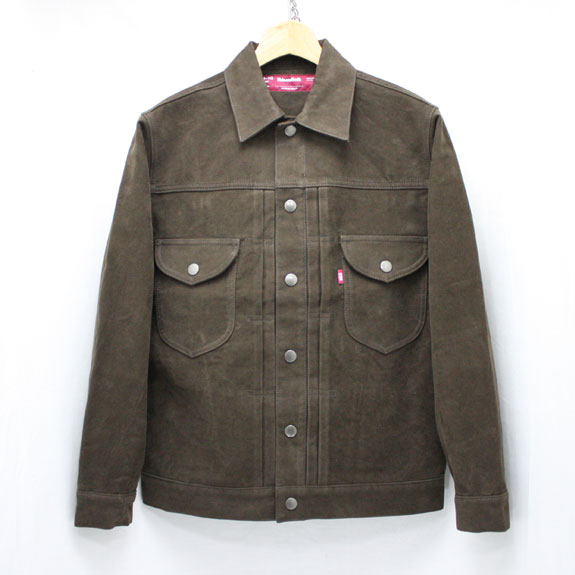 HIDE&SEEK Moleskin 2nd JKT (15aw):BROWN