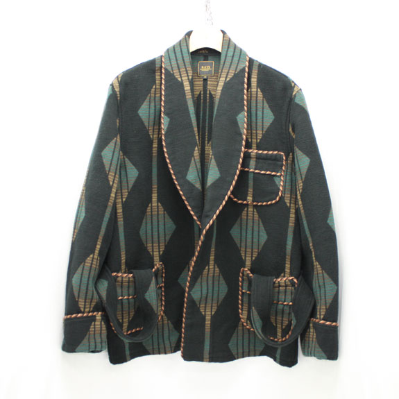 RATS INDIAN ROBE:BLACK×GREEN×BROWN