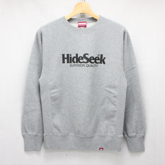 HIDE&SEEK H.S. Sweat Shirt (16ss):H-GRAY