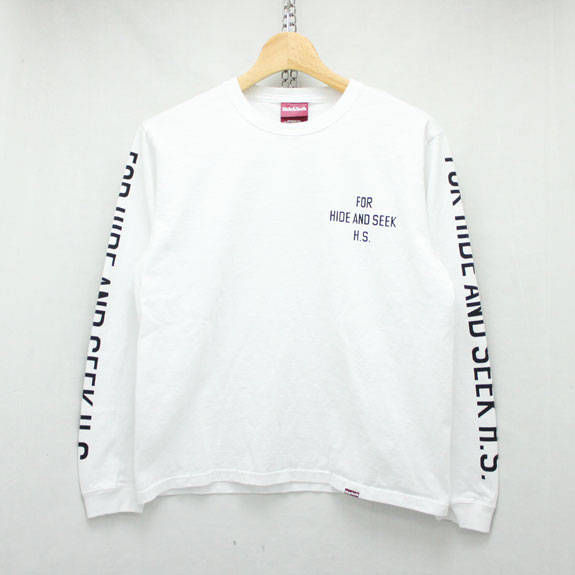 HIDE&SEEK For H.S. L/S Tee:WHITE