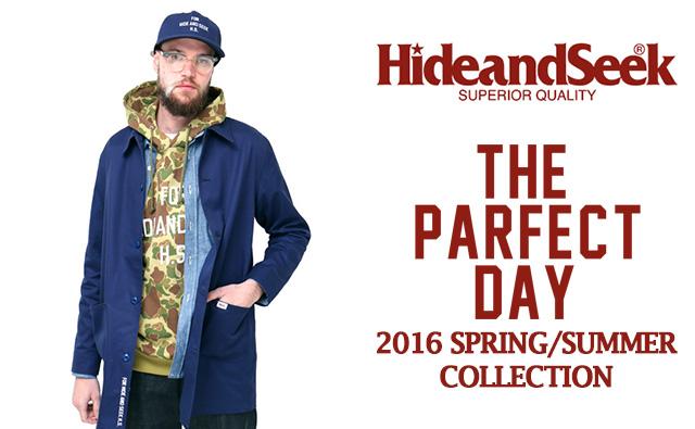 HIDE&SEEK2016年春夏コレクションコーディネート lookbook カタログ