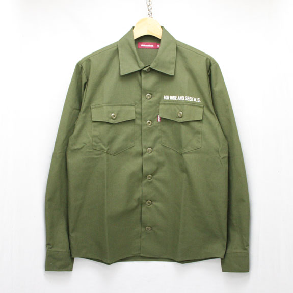 HIDE&SEEK Fatigue L/S Shirt (16ss):O D