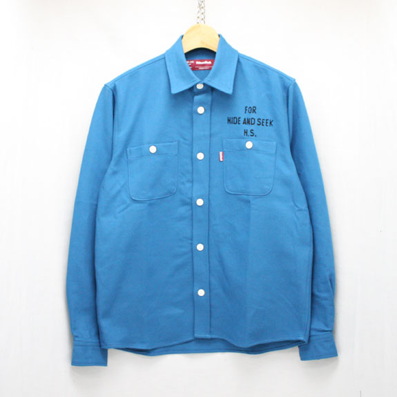 HIDE&SEEK Heavy Twill L/S Shirt:BLUE