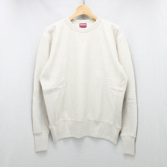 HIDE&SEEK Reverse Weave Sweat Shirt:OATMEAL