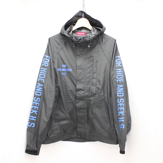 HIDE&SEEK Packable Rain JKT (16ss):BLACK