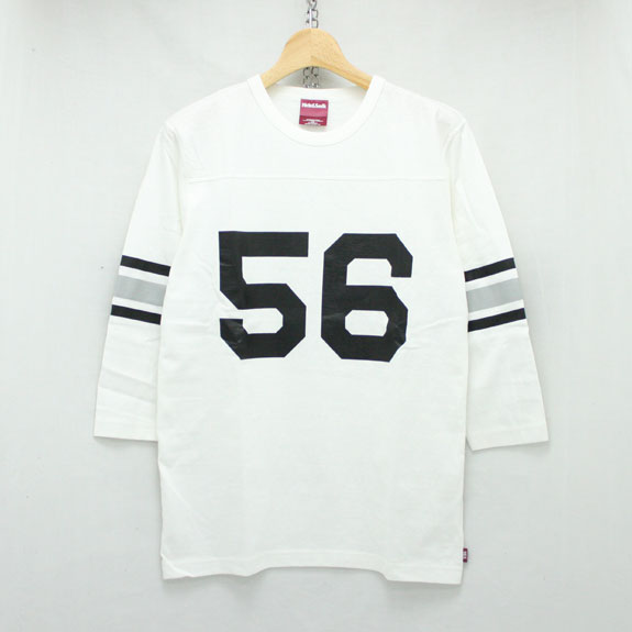 HIDE&SEEK Football 3/4s (16ss):WHITE