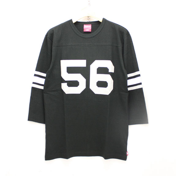 HIDE&SEEK Football 3/4s (16ss):BLACK