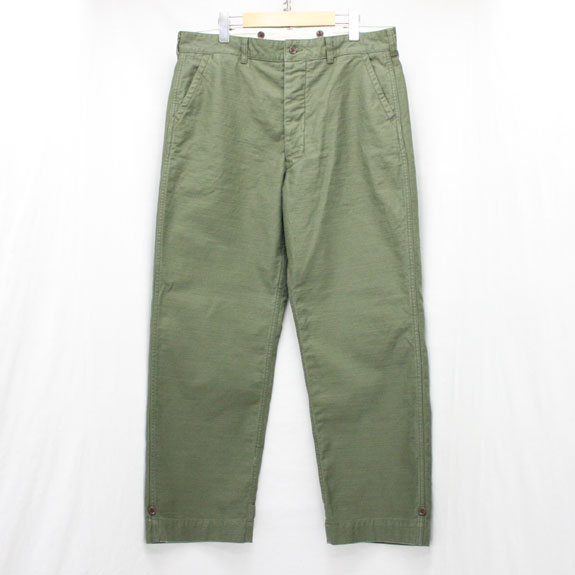 BELAFONTE RAGTIME FATIGUE TROUSERS (BAKER BACK SATIN):OLIVE GREEN