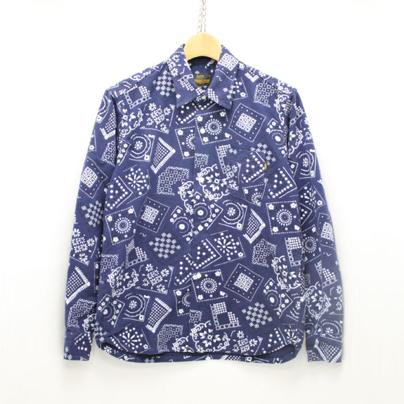 RATS PRINT FLANNEL SHIRT:NAVY