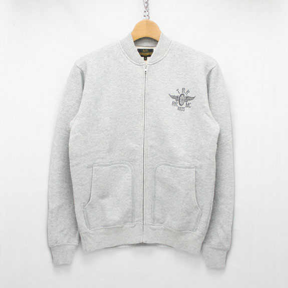 RATS ZIP UP SWEAT L/S:TOP GRAY