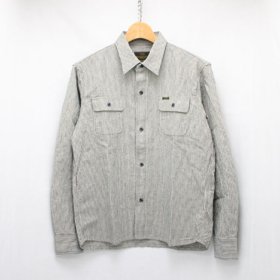 RATS HICKORY TRIPLE STITCH SHIRT:INDIGO