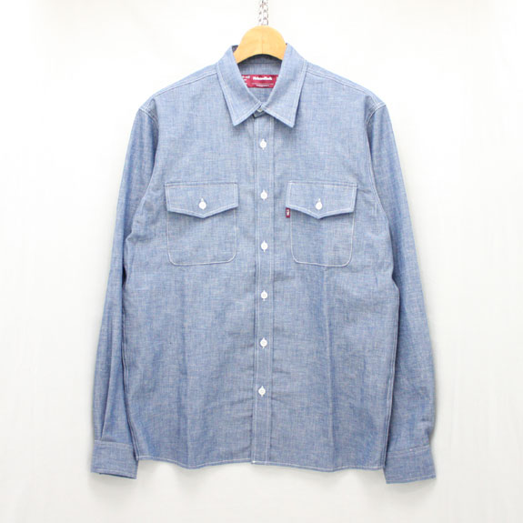 HIDE&SEEK Chambray L/S Shirt (16ss):NAVY