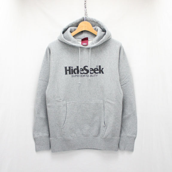HIDE&SEEK Logo Sweat Parka (16ss):H-GRAY