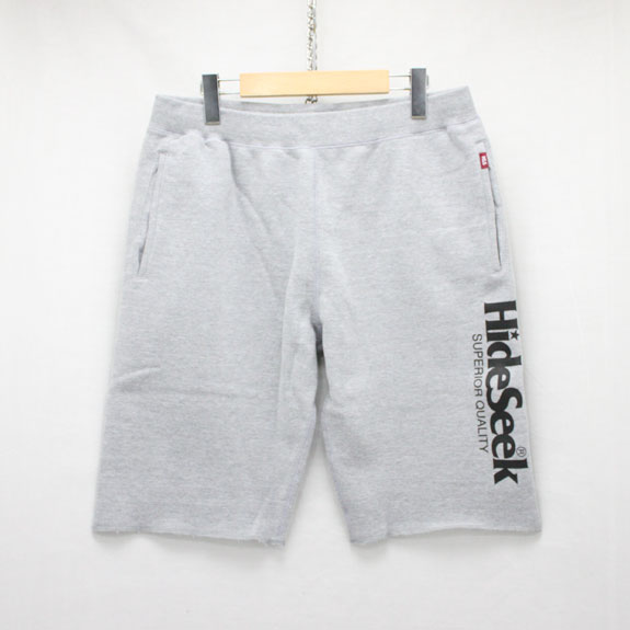 HIDE&SEEK Logo Sweat Pants:H-GRAY