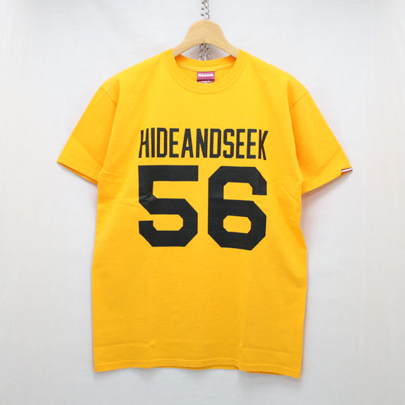 HIDE&SEEK Football S/S Tee:YELLOW