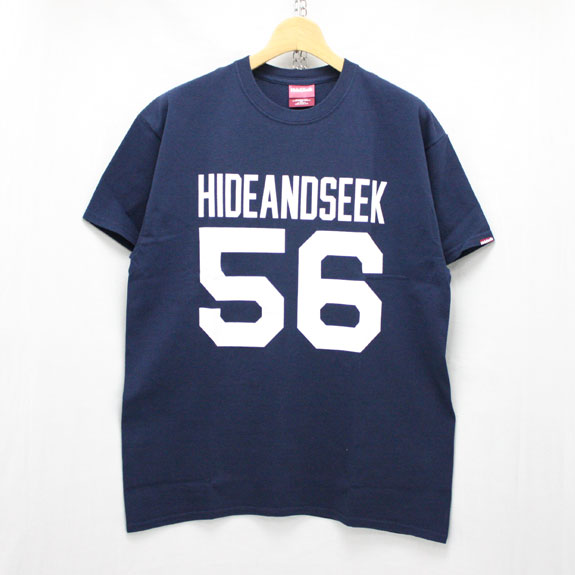 HIDE&SEEK Football S/S Tee:NAVY