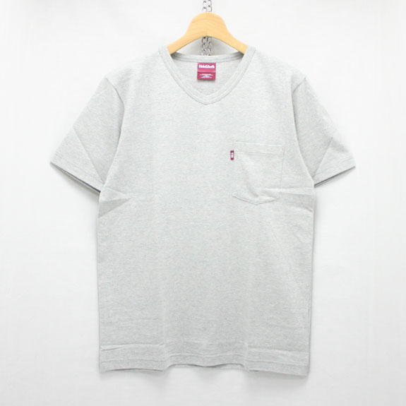 HIDE&SEEK Pocket V-Neck S/S Tee (16ss):H-GRAY