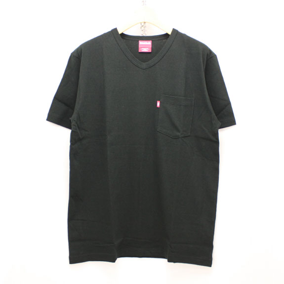 HIDE&SEEK Pocket V-Neck S/S Tee (16ss):BLACK