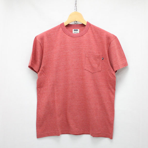 RATS TOP POCKET T-SHIRT:RED