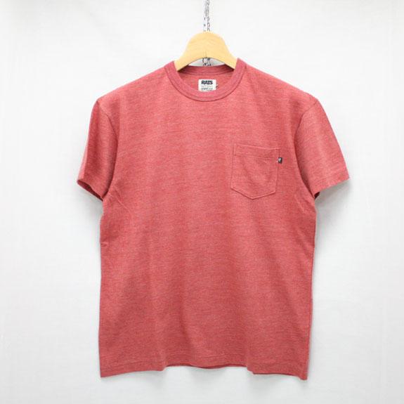 RATS TOP POCKET T-SHIRT:RED