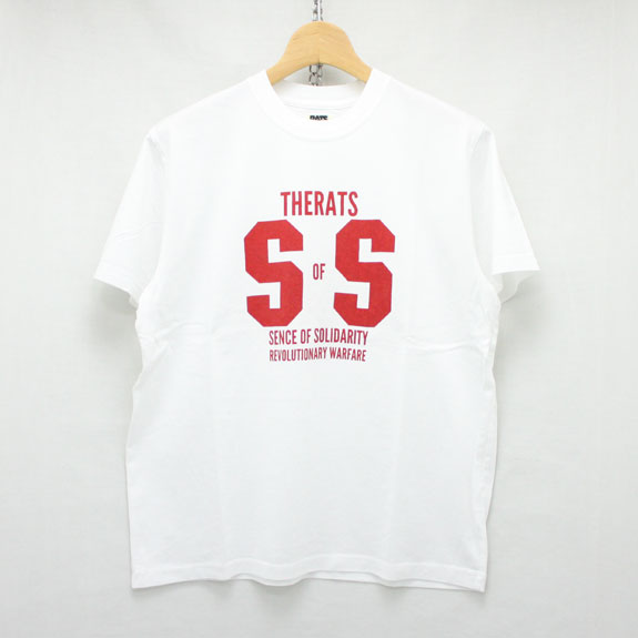 RATS SS T-SHIRT:WHITE×RED