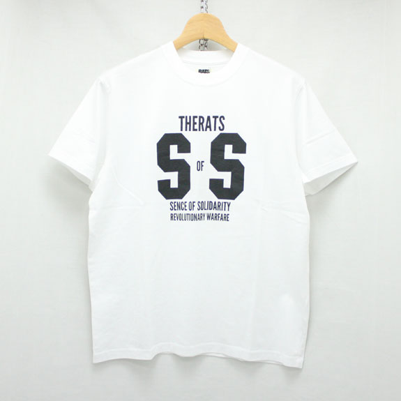 RATS SS T-SHIRT:WHITE×BLACK