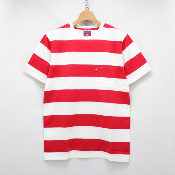 HIDE&SEEK Border Pocket Tee (16ss):RED